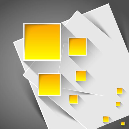 shadow effect: abstract background with orange rectangles and shadow effect Illustration