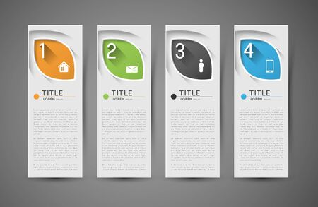 standout: option infographic vertical banners with icons, design template