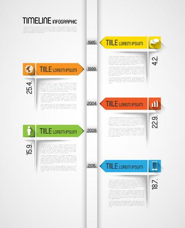 meses del año: plantilla infografía línea de tiempo con iconos, efecto de diseño plano