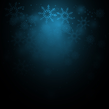 christmas background with sparkles and snowflakes Vector