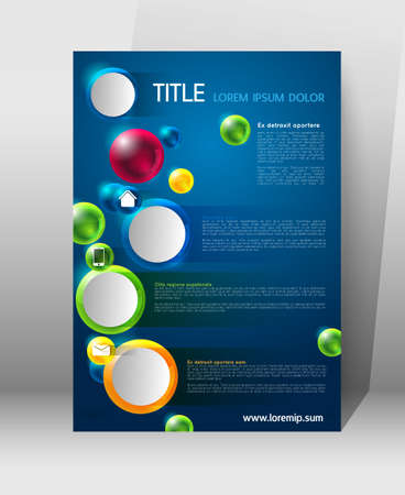 poster template: abstract modern poster template with colorful spheres