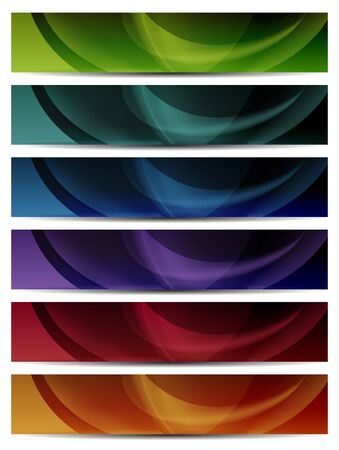 header image: abstract colorful presentation web banners with blur effect Illustration