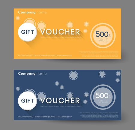 financial reward: abstract gift voucher with circles, flat shadow effect Illustration