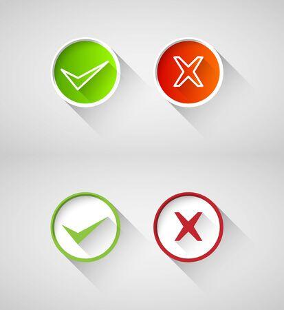 wrong: right, wrong sign symbol set