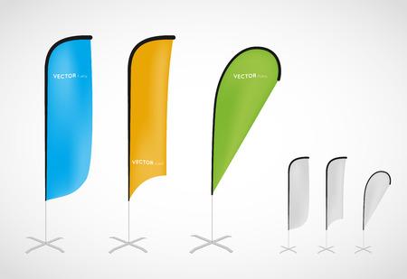 promotional vector flag banner stand Illusztráció