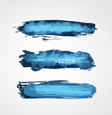 colorful vector grunge stroke banners collection, design element