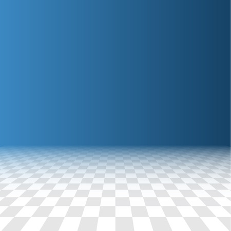 flooring: Abstract checker background in perspective Illustration