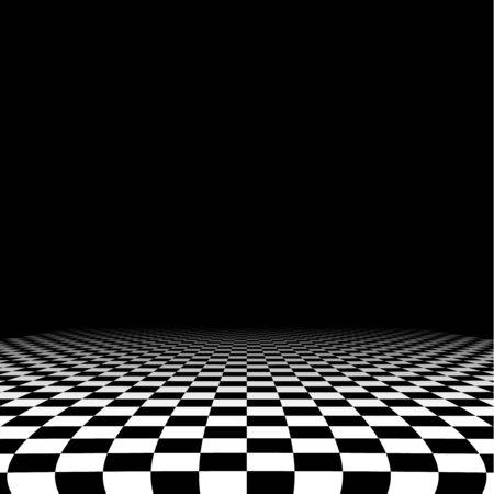 Abstracte checker achtergrond in perspectief
