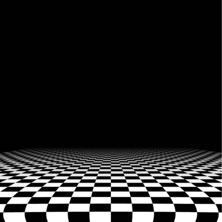 Abstrakcyjne tło checker w perspektywie
