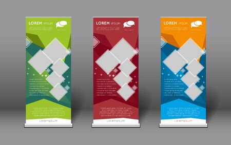 roll up presentation banners template collection