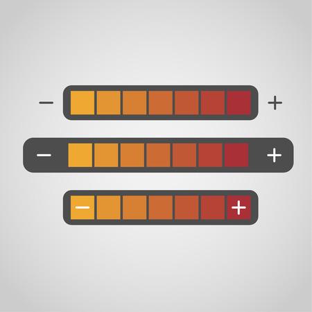 heat regulation interface Illustration