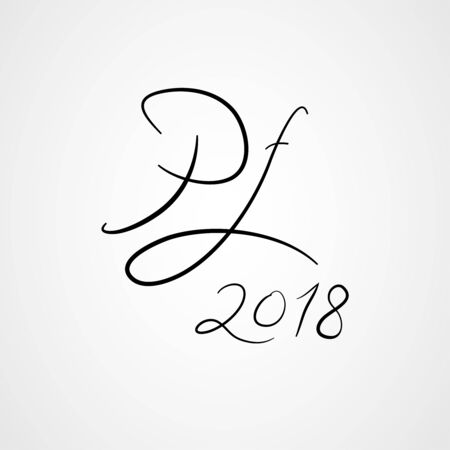 hand written pour feliciter text, happy new year Vector illustration. Vettoriali