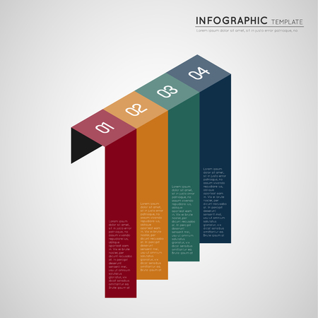 isometric infographic colorful progression banners Illustration