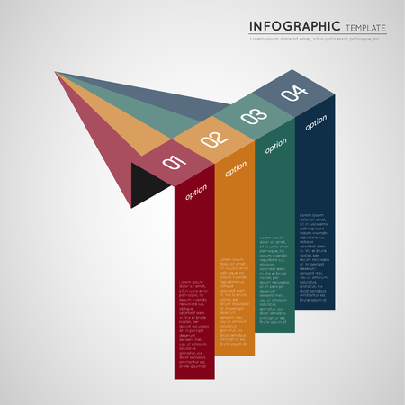 isometric infographic colorful progression banners Ilustrace