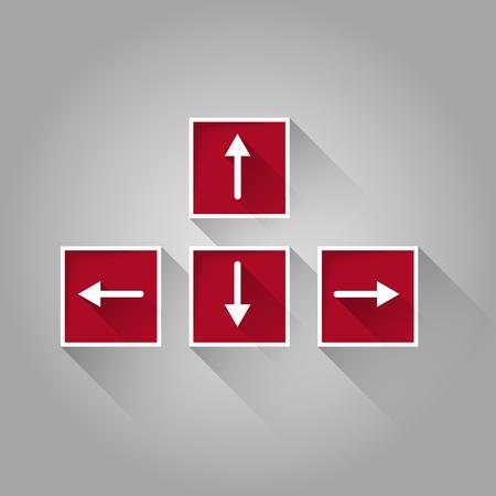 arrow keyboard buttons