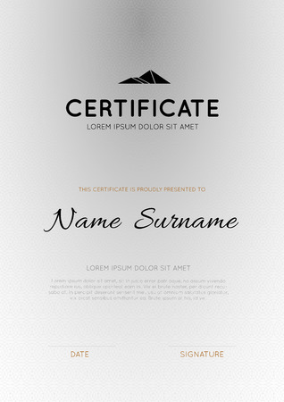 vector certificate template design