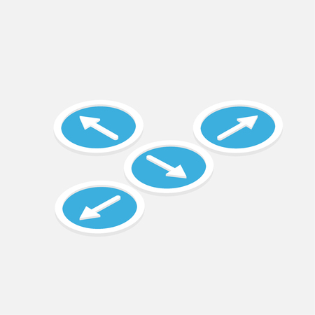 isometric direction arrows buttons