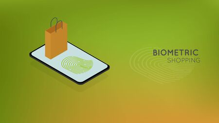 biometric shopping, mobile payment via smartphone using fingerprint identification