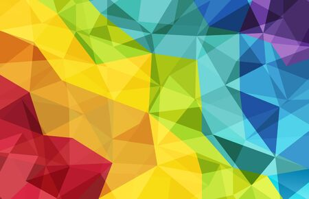 abstract low poly crystal polygon colorful background