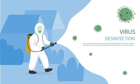 Illustration graphic vector of Virus Disinfection. Perfect for campaign war virus like a corona virus, etc.