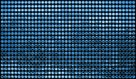 gleaming: Background of multiples blue dots Stock Photo