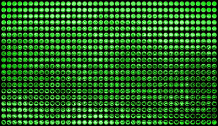 gleaming: Background of multiples green dots