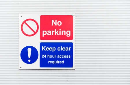 No parking private property car park no turning sign