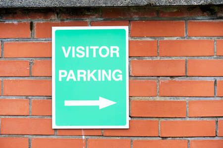 Visitor parking on private office property car park