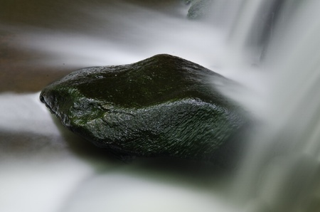 Rock Splashed with Water