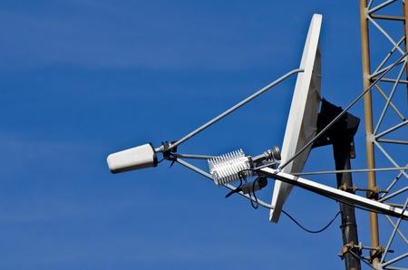 rf: Satellite Dish on Communications Tower