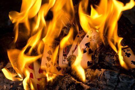 Burning Cards Reklamní fotografie