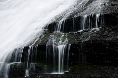 Water Spilling from a Waterfall Stock fotó