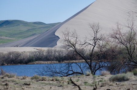 genesis: Genesis of the Rising Sand Dune Stock Photo