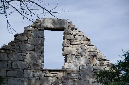 Ruins of an Old Stone Home Imagens