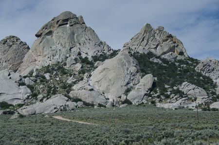 Granite Formations in the City of Rocks Stock Photo