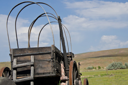 covered wagon: Covered Wagon Facing the Road Ahead