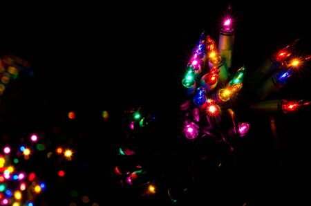 Christmas Lights Shining in the Darkness