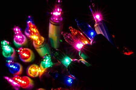 magenta decor: Christmas Lights Shining in the Darkness