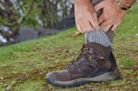Protecting Against Ticks by Tucking Pants into Socks