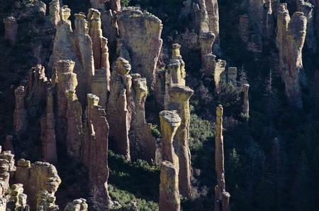 hoodoo: Hoodoo Rock Formations in the Chiricahua National Monument Stock Photo