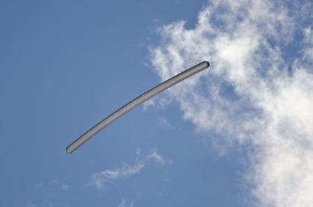 drifting: Solar Balloon Drifting Among the White Clouds
