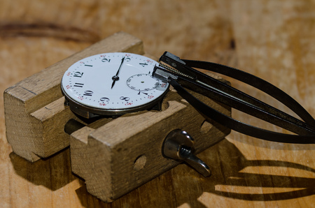 Watch Repair: Pocket Watch Movement with Hands Remover