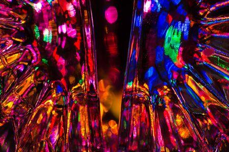 要約: ファンタジー背景明るくカラフルな光の 写真素材