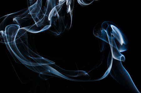 Nature Abstract: The Delicate Beauty and Elegance of a Wisp of Smoke