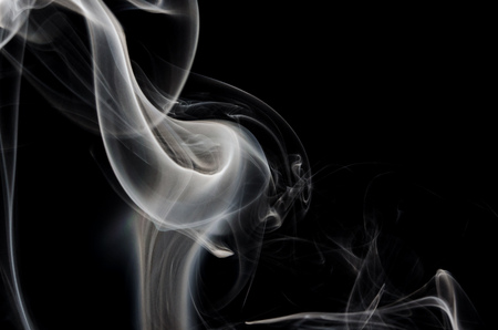 Nature Abstract: The Delicate Wisp of Smoke Forming a Calla Lily