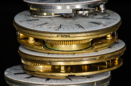 Stack of Discarded Antique Pocket Watches