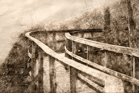 Sketch of a Long Walkway Stretched Out Before You