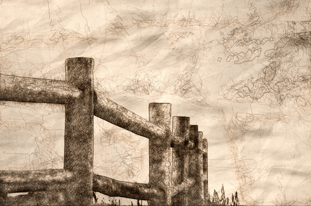 Sketch of a Fence in the Fog