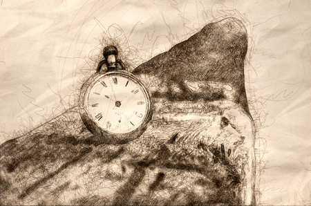 Sketch Showing It is All About the Passage of Time