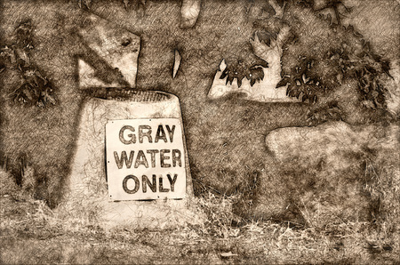 Sketch of a Gray Water Disposal Station at Summer Campground